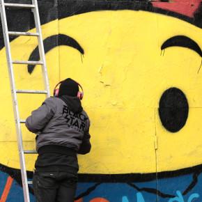 Граффити-перфоманс в Москве
